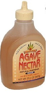 Agave syrup, raw (also called agave nectar)