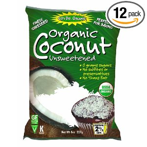 Coconut, unsweetened shredded dried