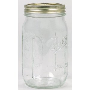 Glass Quart-sized Mason Jars, 12-pack